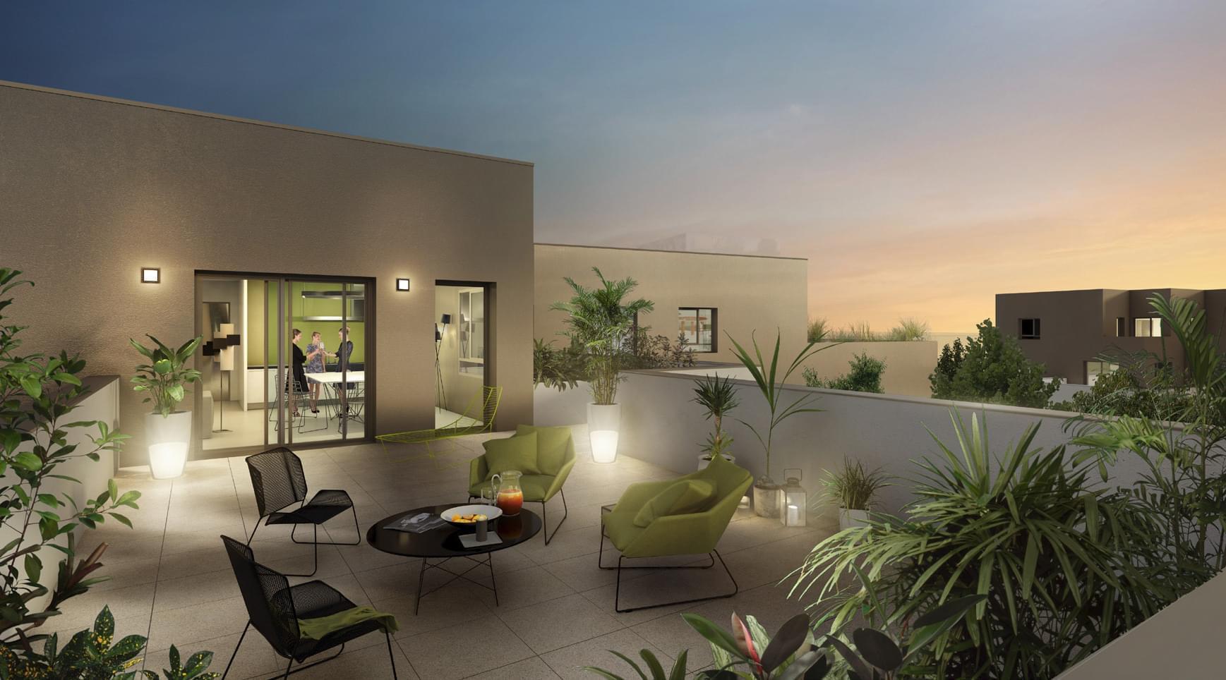 Programme immobilier avec apaprtements terrasse en dernier for Programme appartement