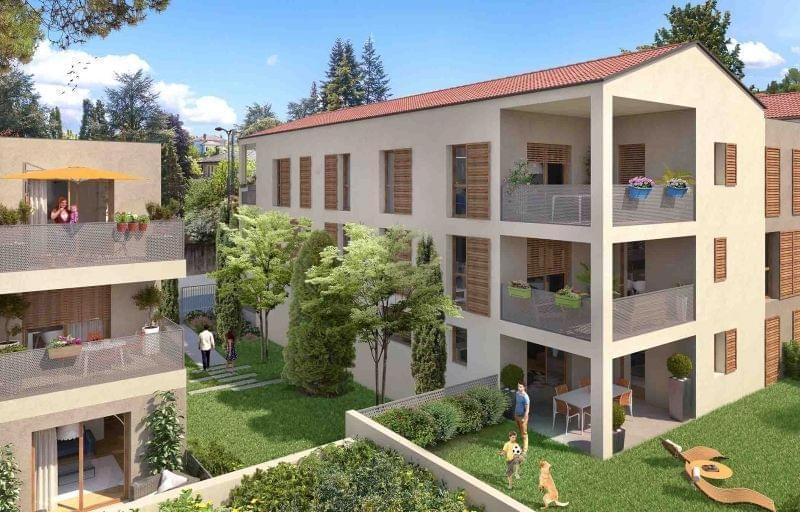 Achat locatif Sainte Foy lès Lyon avec les logements neufs de la résidence In'side