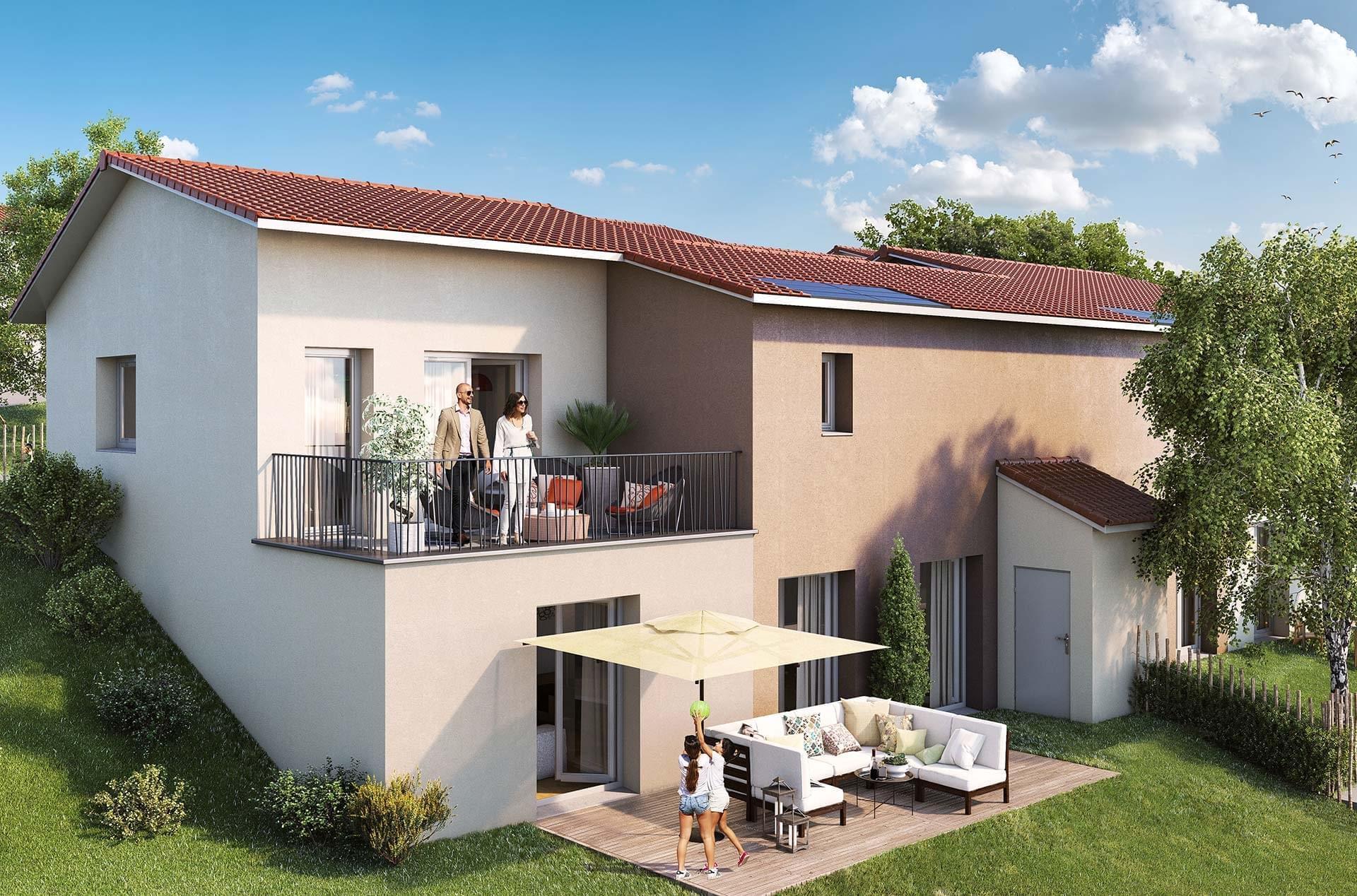 Achetez votre maison neuve avec mca constructeur dans l 39 ouest lyonnais vaugneray les terrasses - Maison neuve bbc ...