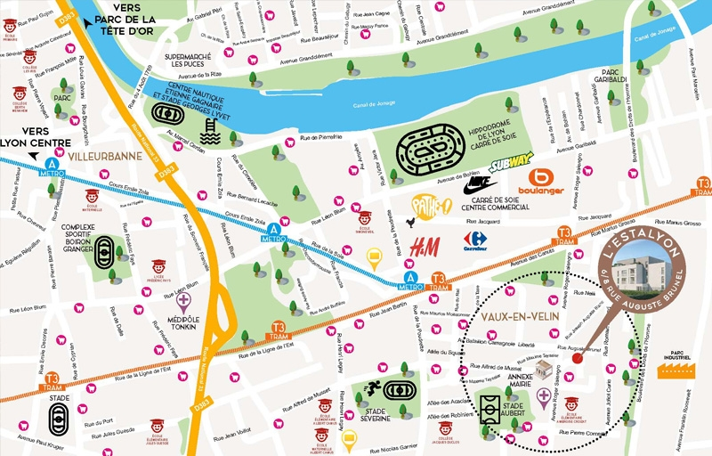 Résidence à Vaulx en Velin Au coeur de la métropole Lyonnaise, Idéal investisseur, Prestations soignées,