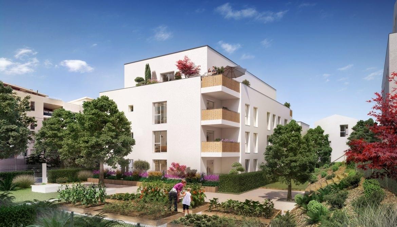 Résidence à Venissieux Tramway, Médiathèque, Mairie,