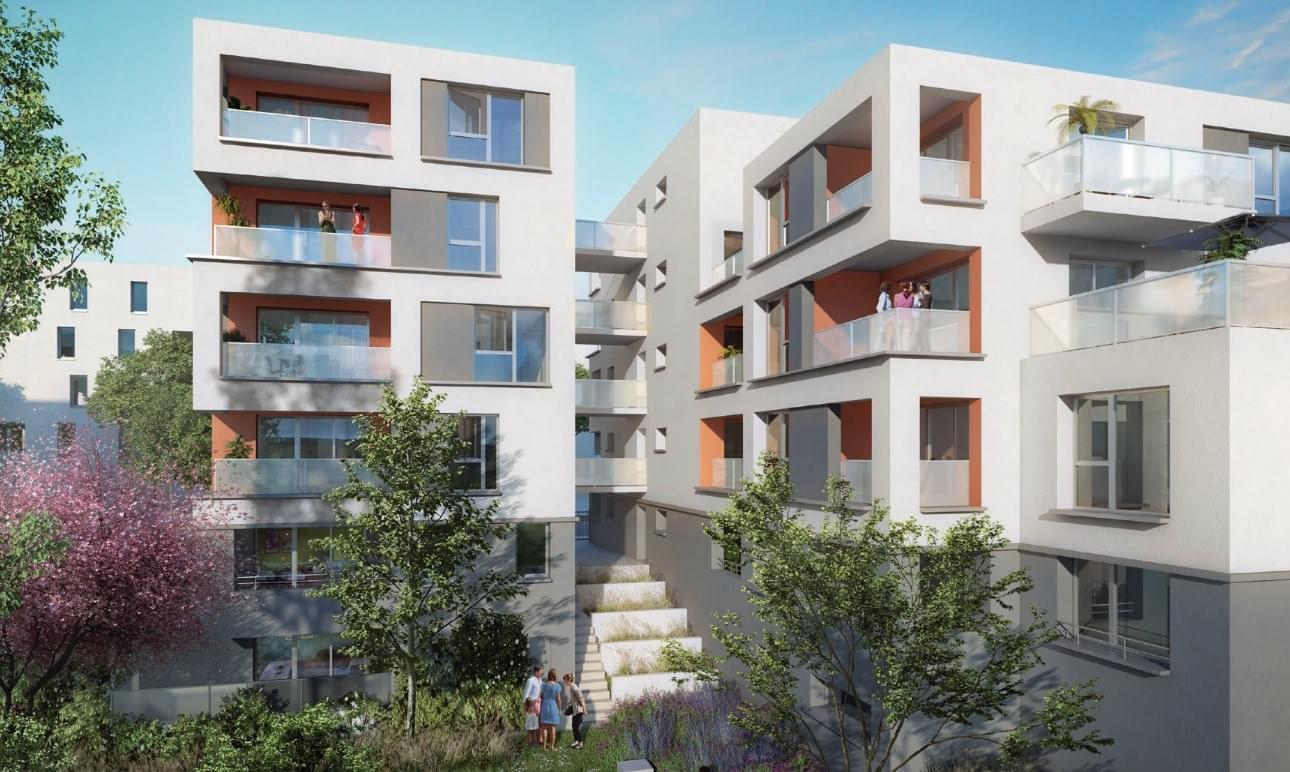 Résidence à Venissieux Proche commerces, Proche transports, Jardin, terrasse ou balcon pour tous les logements,