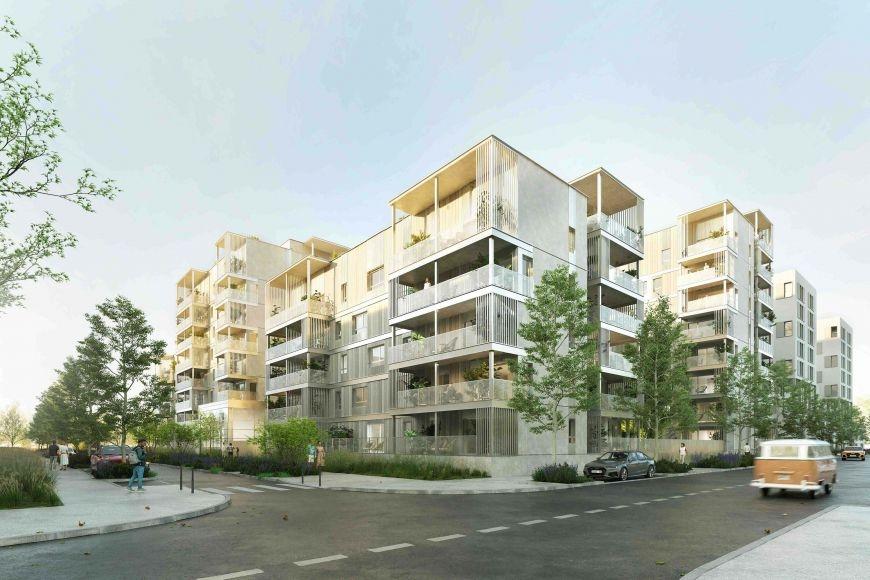 Résidence à Venissieux Nouveau quartier Grand Parilly, Construction éco-responsable, Prestations de qualité,