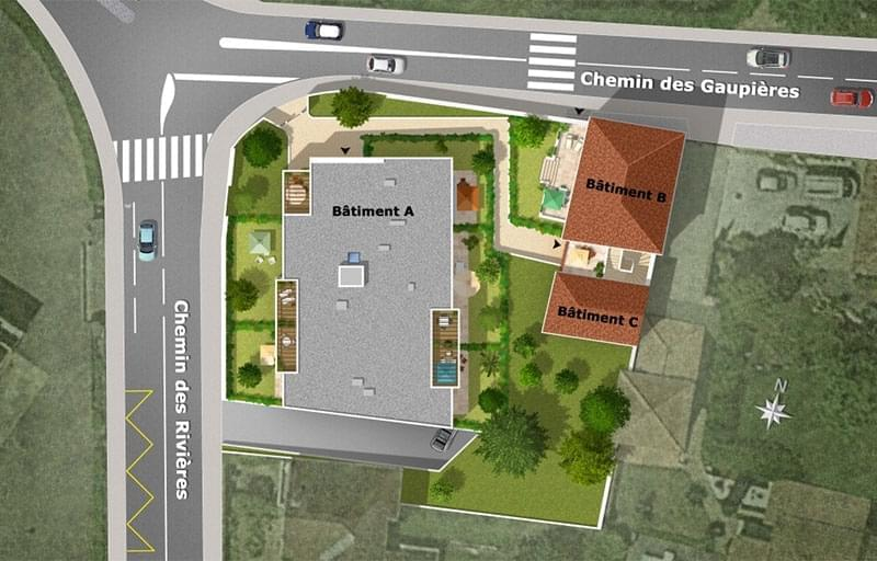 Résidence à Vernaison Proche écoles et crèches, Desservi par les TCL, Environnement résidentiel,