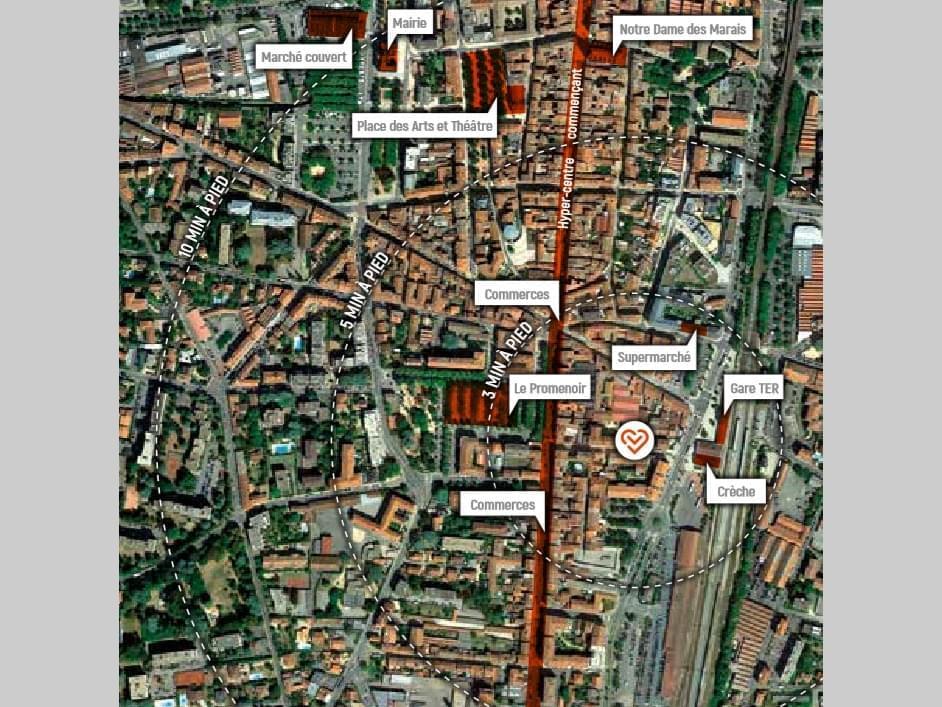 Résidence à Villefranche sur Saône Proche gare, Proche commerces, Résidence calme,