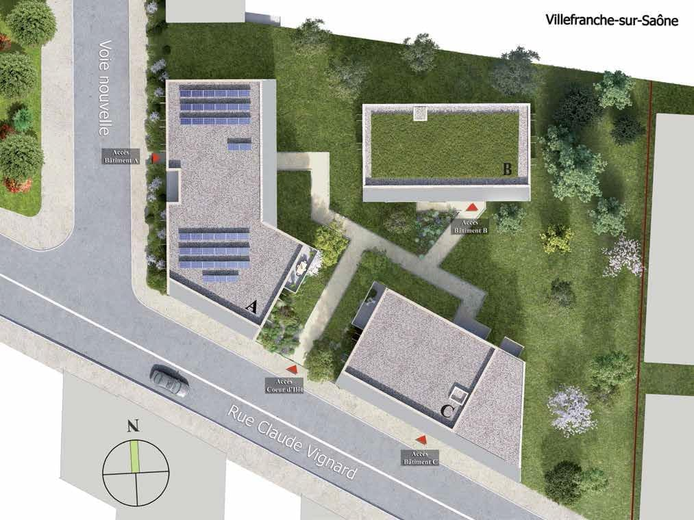 Résidence à Villefranche sur Saône Eligible TVA réduite, Bien placé en plein centre, Grande qualité de construction,