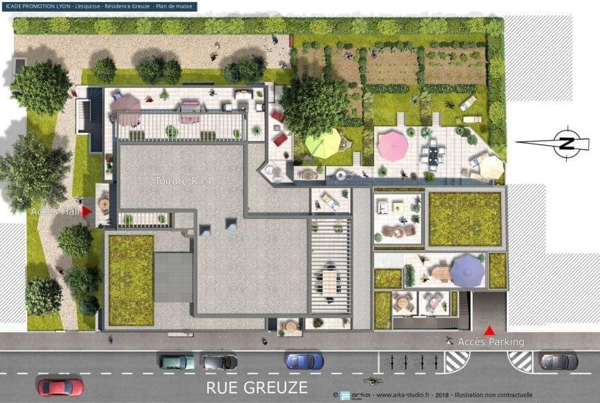 Résidence à Villeurbanne Contemporain et élégant, Cabinet d'architectes renommé, Terrain de boules lyonnaises,