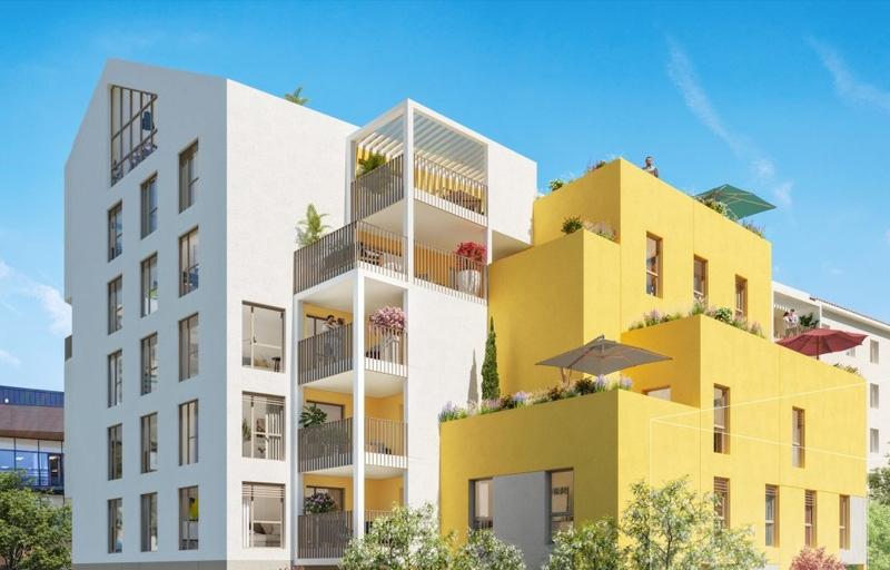 Résidence à Villeurbanne Tramways T1 et T4 à 4 mn à pied, Appartements atypiques aux extérieurs exceptionnel,