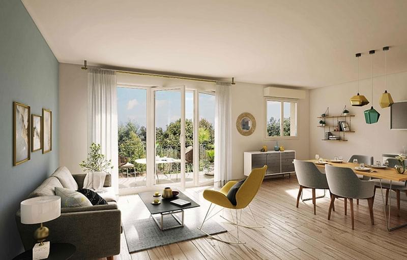 Résidence à Villeurbanne Proche écoles, Proche Commerces, Tous les appartements bénéficient d'un espace extérieur (balcons, terrasse ou jardin),