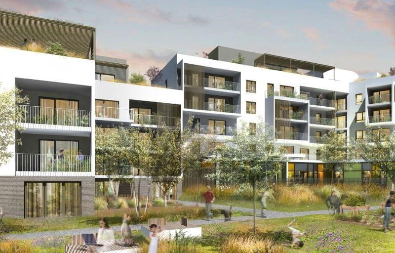 Proche part dieu programme immobilier neuf villeurbanne for Jardin immobilier