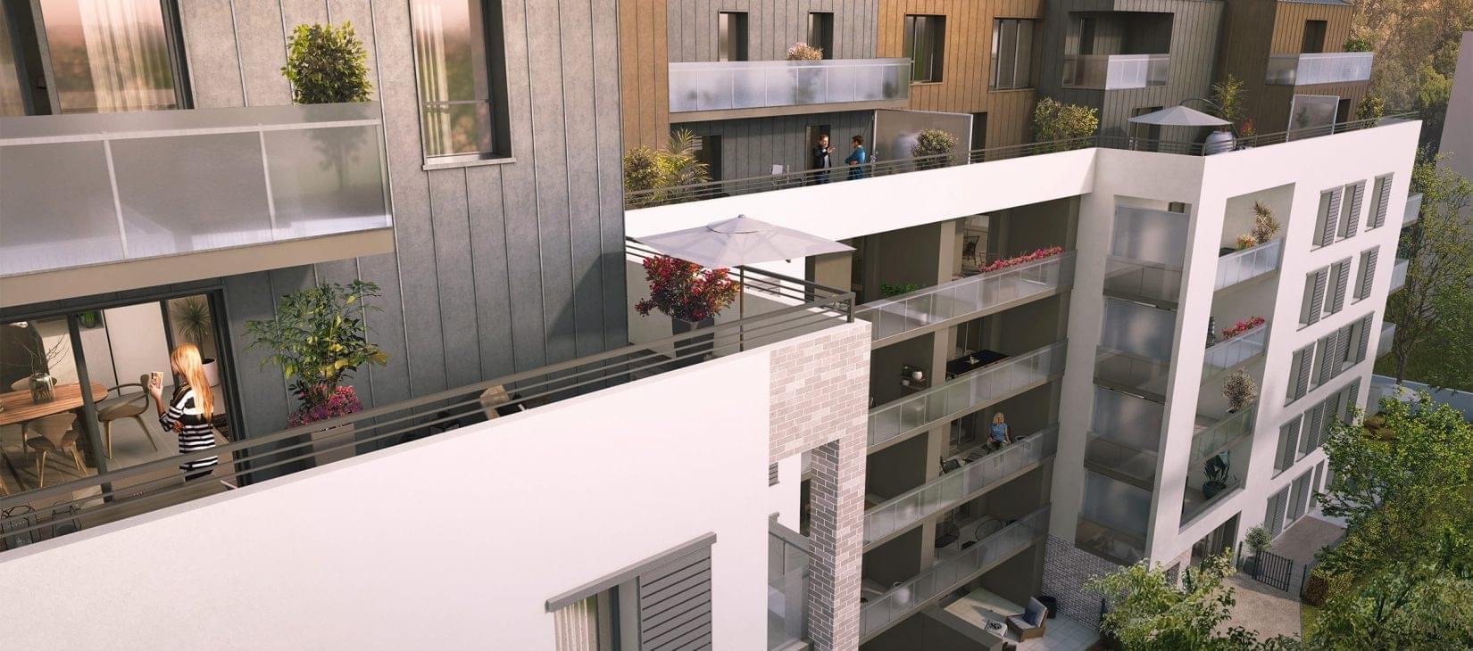 Résidence à Villeurbanne Proche transports, Villas duplex sur le toit, Proche commerces et écoles,