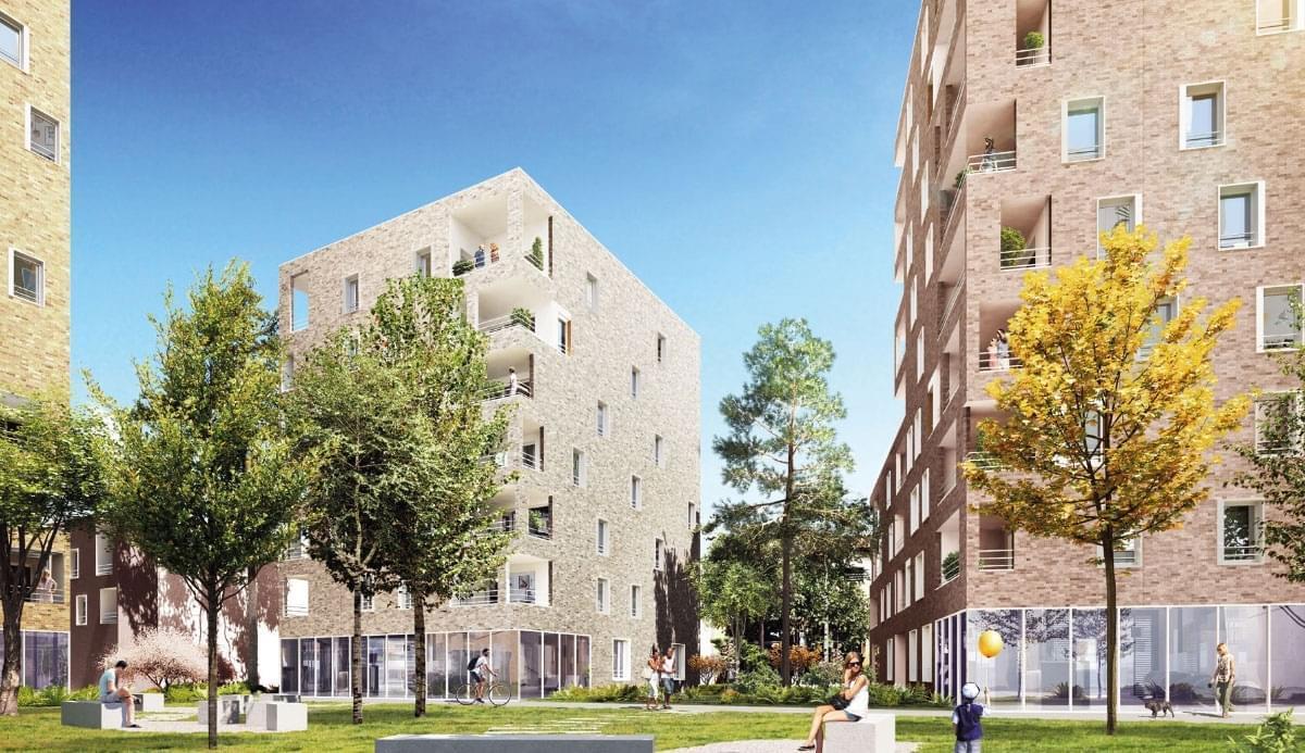 Résidence à Villeurbanne Quartier calme, Proche métro et commerces, Stationnement en sous-sol,