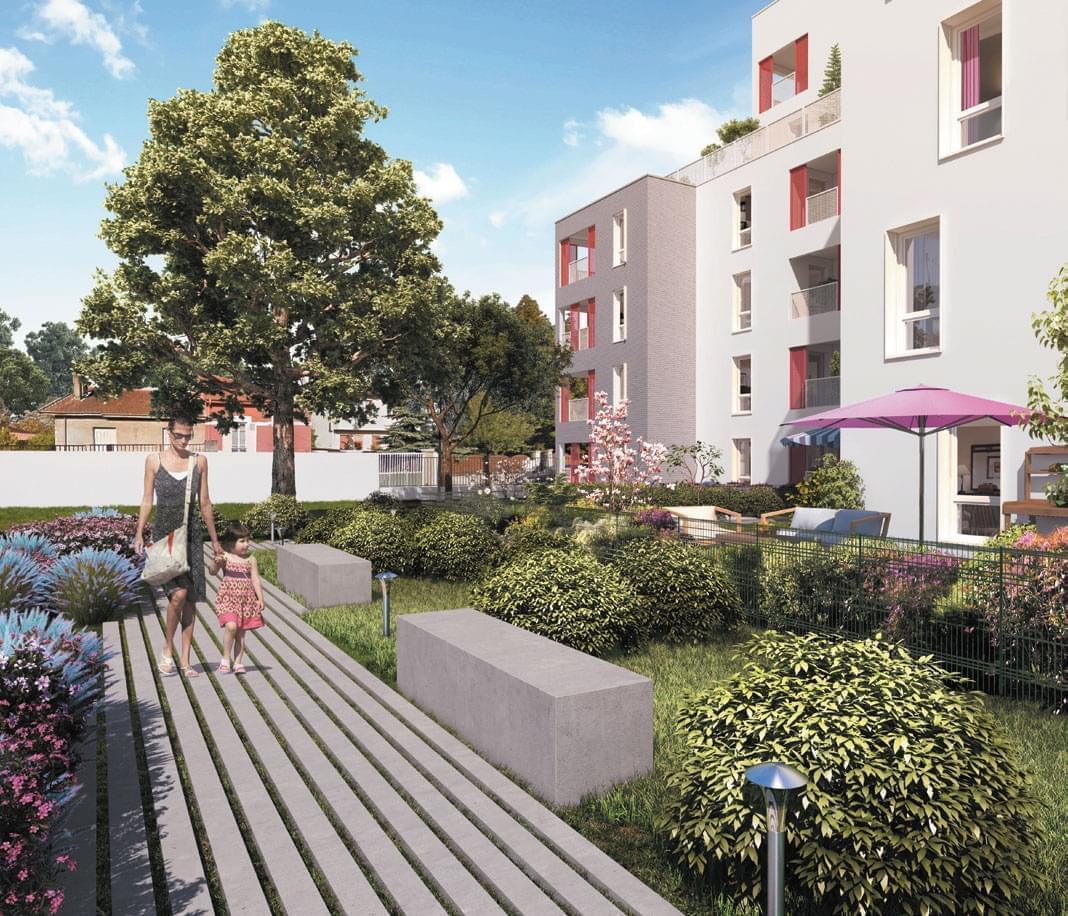 Résidence à Villeurbanne Proche Campus La Doua, Eligible TVA réduite 5,5%, Très belle réalisation, 3 maisons neuves, nombreuses commodités,