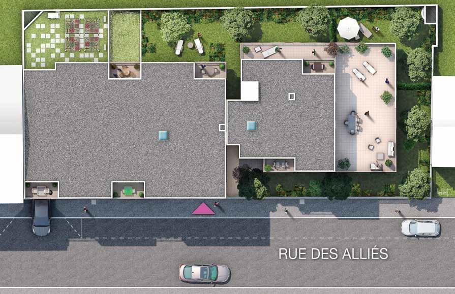 Résidence à Villeurbanne Belles prestations, Norme NF Habitat, Jardins, terrasses, balcons, Vues sur fourvière, Eligible PTZ, notaire réduit,