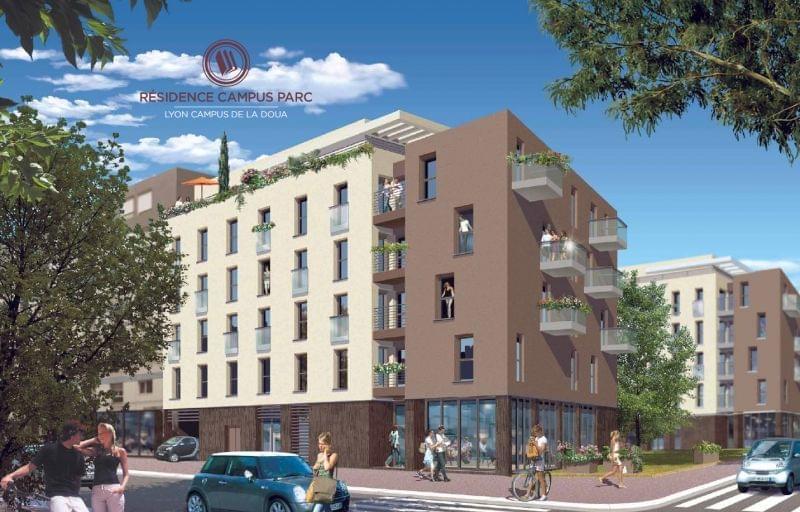 Residence etudiante La Doua : Résidence Campus Parc villeurbanne la doua Censi Bouvard