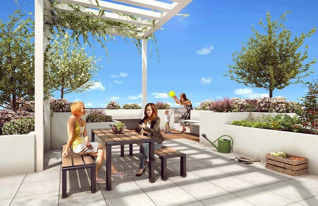 Résidence à Villeurbanne Eligible Prêt à Taux Zéro, Entre Gratte-Ciel et la Doua, Rooftops végétalisés,