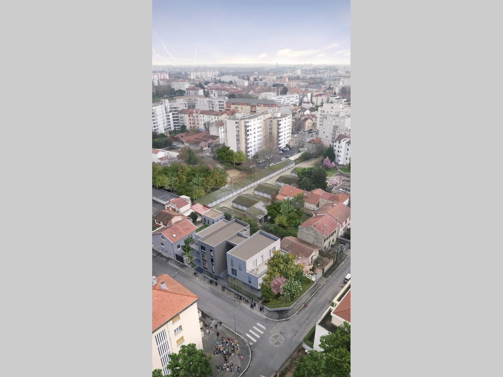 Résidence à Villeurbanne Quartier pavillonnaire et résidentiel au calme, A 300 mètres des Trams T1 et T4, Commerces de l'Avenue Roger Salengro à 500 mètres ,