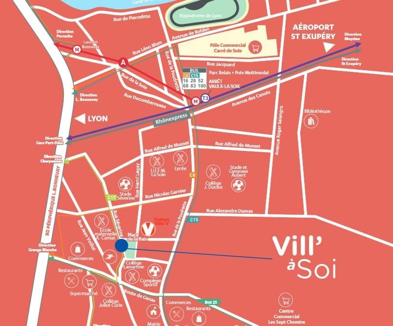 Résidence à Villeurbanne Proximité des commerces, Quartier dynamique, Architecture moderne,