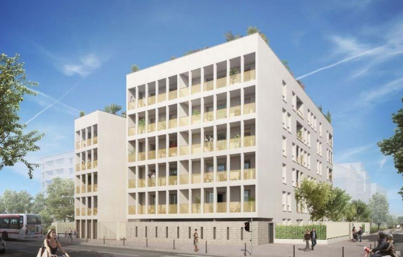 Nouvelle résidence neuve à Villeurbanne Grandclément / Léon Blum : villa bianca face médipole villeurbanne