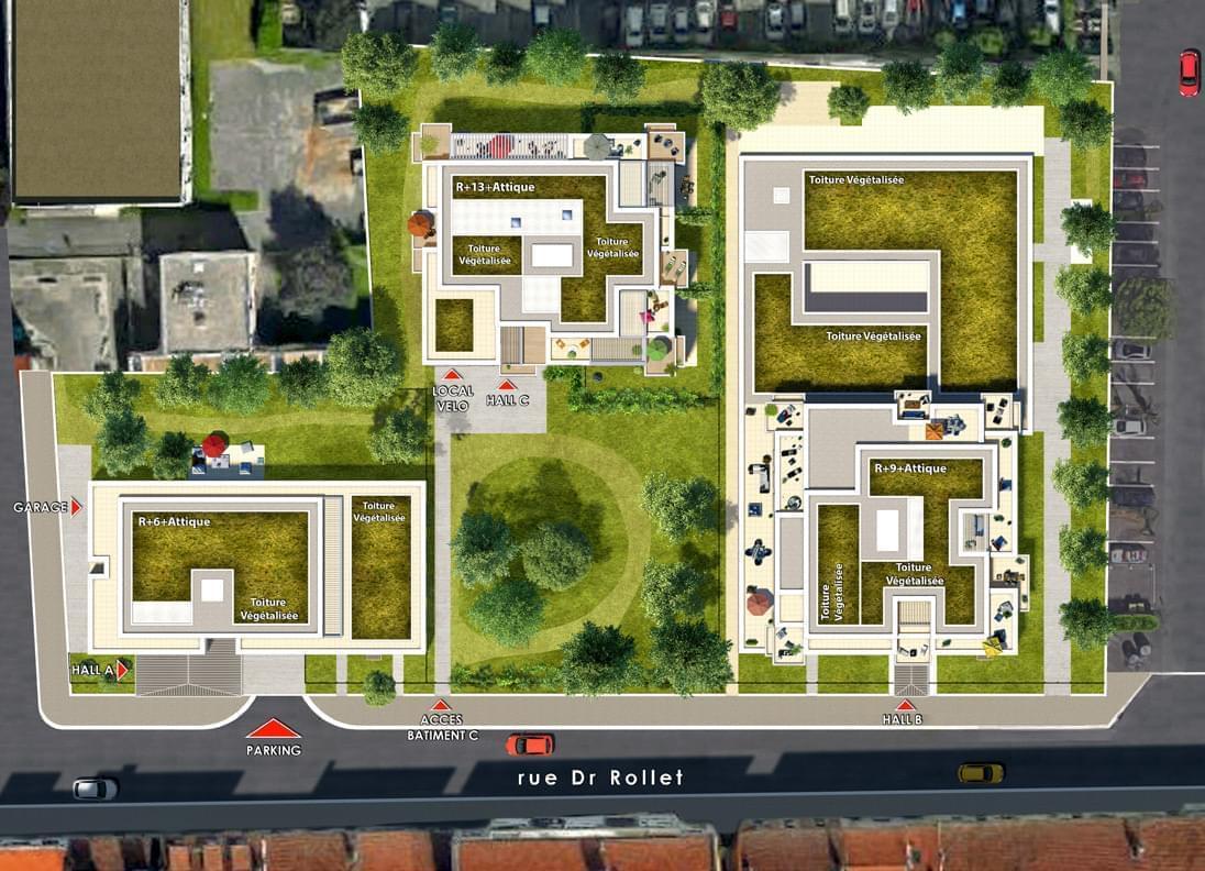 Résidence à Villeurbanne Plein coeur des Gratte Ciel, Domotique en option, Immobilier neuf innovant,