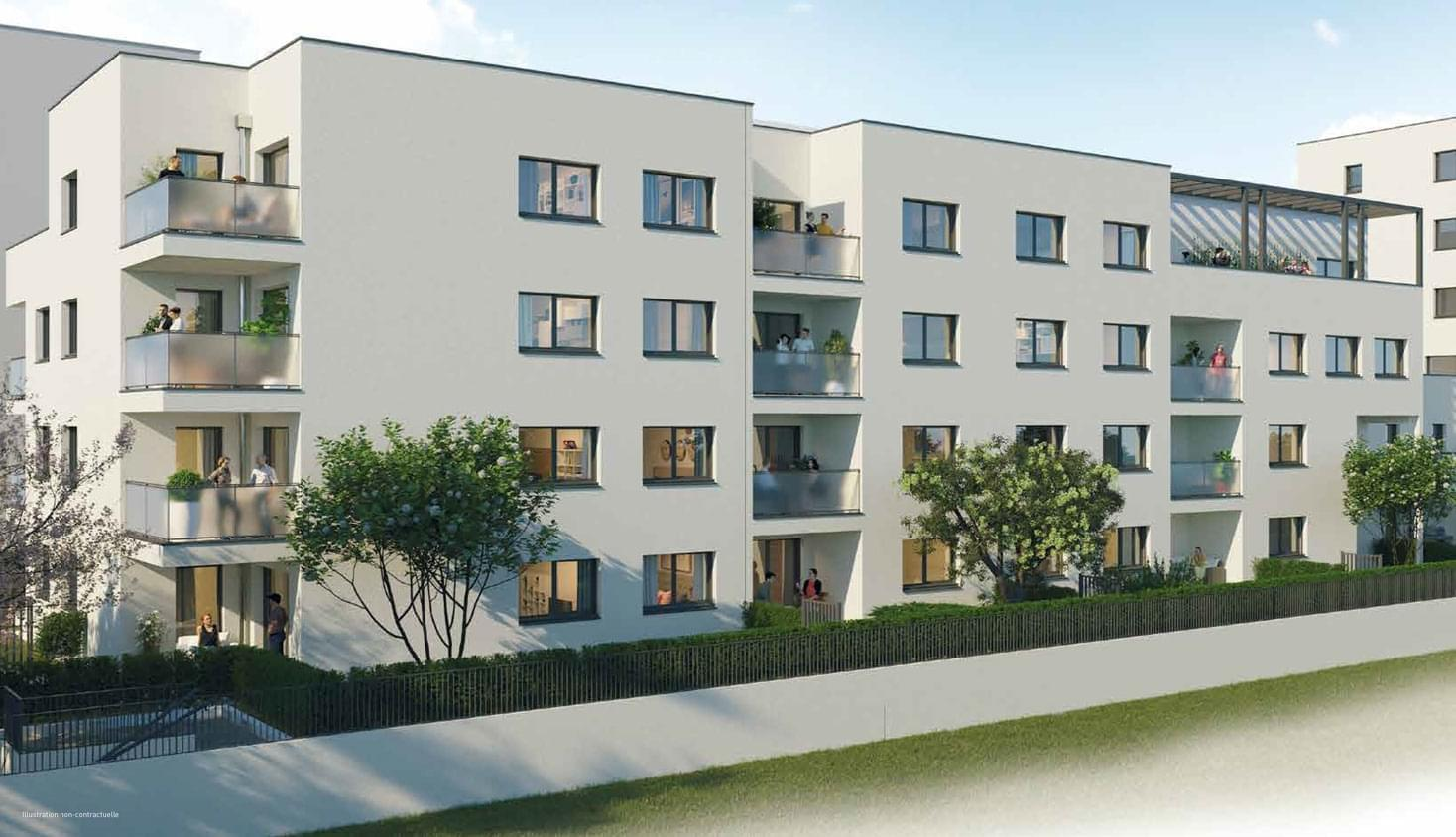 Résidence à Chambéry Vue sur les quais, Balcons, terrasses ou jardins, Parkings,