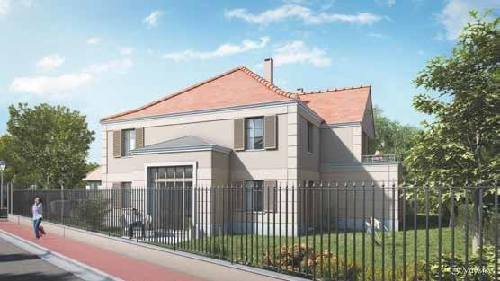 Résidence à L'Isle-Adam Architecture type Mansarde, Belles prestations, Totalement sécurisé,