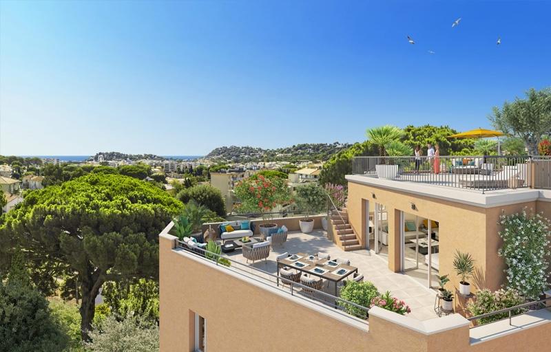 Résidence à Cavalaire-sur-Mer Proche des plages et du centre-ville, Fort potentiel locatif (zone Pinel A), Espaces extérieurs et piscine,