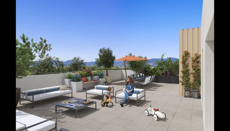 Résidence à Fréjus A 10min des plages, Terrasse ou jardin pour tous les appartements, Proche centre ville,
