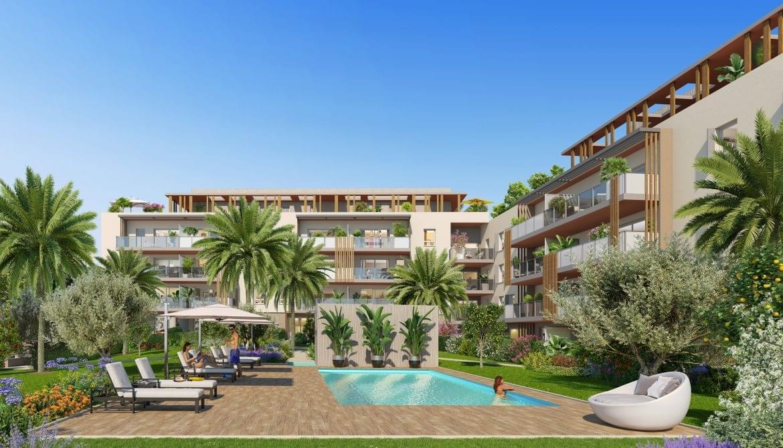 Résidence à Fréjus À moins de 10 mn en voiture des plages et la gare TGV, Domaine verdoyant avec piscine privée et pool house, Elégance contemporaine,
