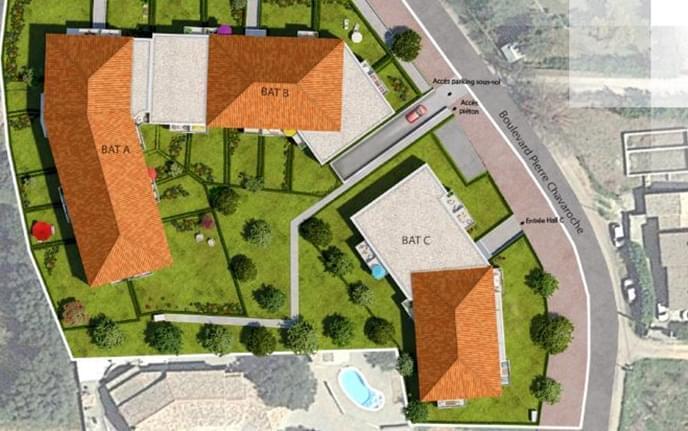 Résidence à Le Luc Stationnements en sous-sol, Jardins privatifs, Proche commerces et écoles,