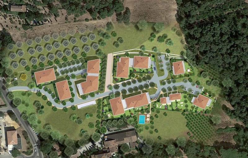 Résidence à Ollioules À 10 min de Toulon en voiture, Espace boisé classé, Jardin privatif et piscine privée,