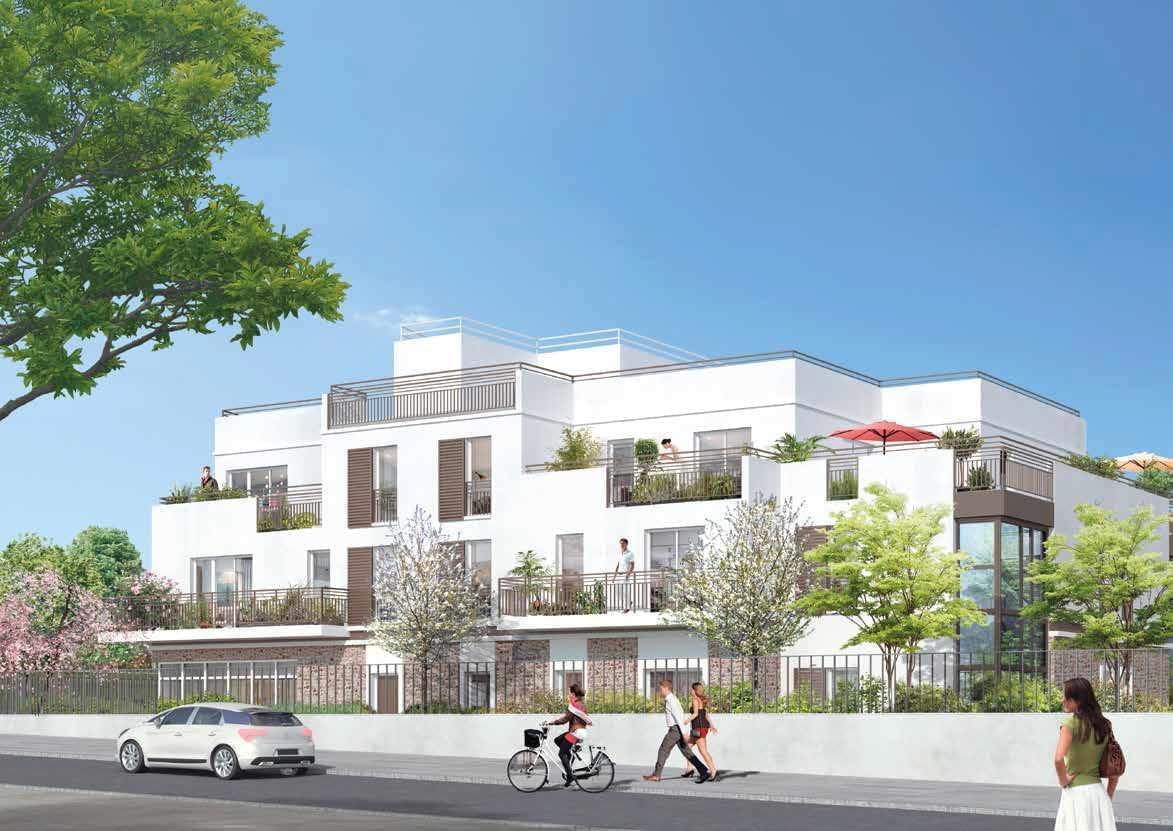 Résidence à Andrésy Parc arboré, Maisons et appartements, Neuf ou réhabilité aux normes BBC,